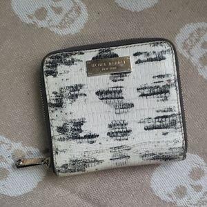 HENRI BENDEL Snake Print Leather Wallet